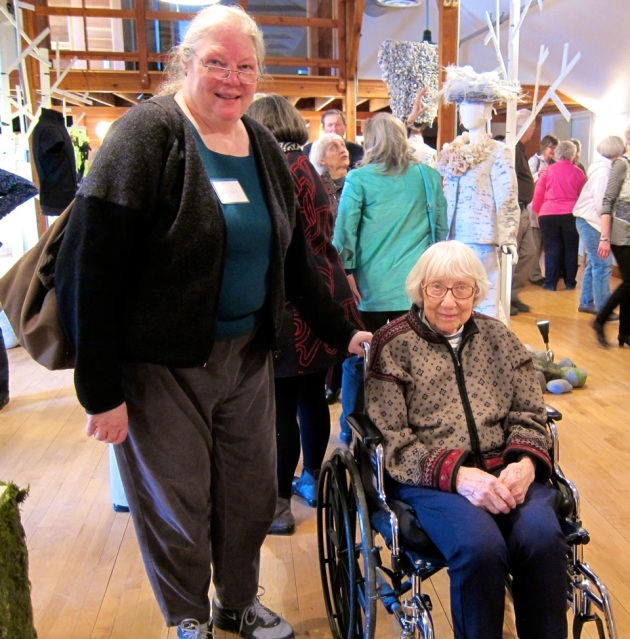 Exhibitor Lisa Torvik brought a special guest, Lila Nelson.